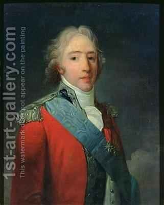 Portrait of Charles of France 1757-1836 Count of Artois future Charles X King of France and Navarre by Henri Pierre Danloux - Reproduction Oil Painting