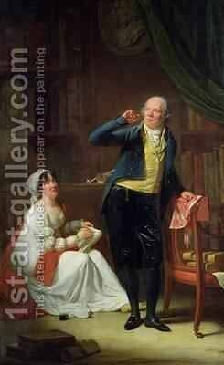 Jacques Delille 1738-1813 and his Wife by Henri Pierre Danloux - Reproduction Oil Painting