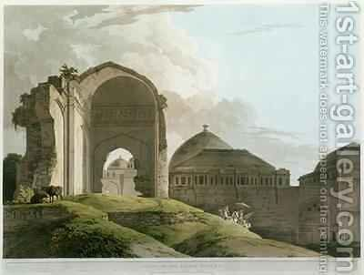 Ruins of the Palace at Madurai by (after) Daniell, Thomas - Reproduction Oil Painting
