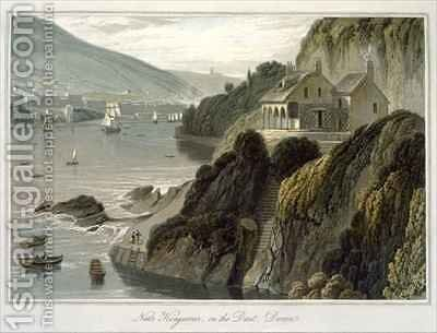 Near Kingswear on the Dart Devon by William Daniell, R. A. - Reproduction Oil Painting