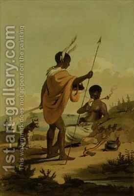 Bushooana Man and Woman by (after) Daniell, Samuel - Reproduction Oil Painting