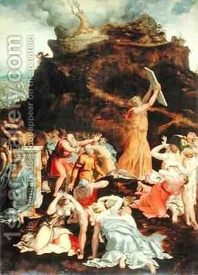 Moses on Mount Sinai by Daniele da Volterra - Reproduction Oil Painting