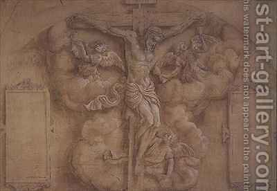 The Crucifixion by Daniele da Volterra - Reproduction Oil Painting