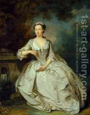 A Lady with a Book by Bartholomew Dandridge - Reproduction Oil Painting