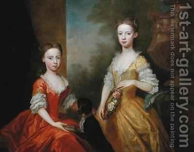 The Daughters of Scrope Egerton by Bartholomew Dandridge - Reproduction Oil Painting