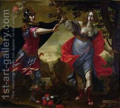 Rinaldo and Armida by Cesare Dandini - Reproduction Oil Painting