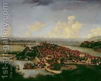 Extensive view of Rye by Hendrick Danckerts - Reproduction Oil Painting