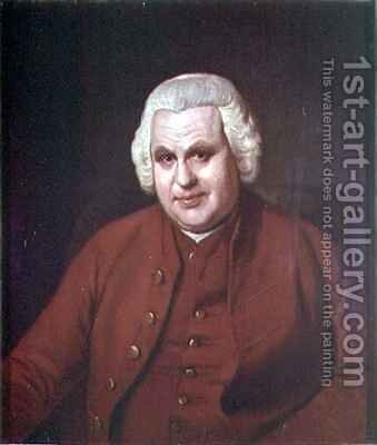 Portrait of Thomas Mudge 1715-94 of the Worshipful Company of Clockmakers by Sir Nathaniel Dance-Holland - Reproduction Oil Painting