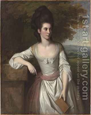 Portrait of Mrs Vere 2 by Sir Nathaniel Dance-Holland - Reproduction Oil Painting