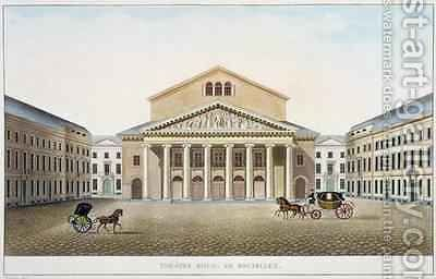 Theatre Royal Brussels by (after) Damesme, Louis - Reproduction Oil Painting
