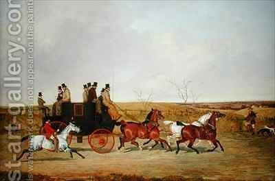 Horse and Carriage by David of York Dalby - Reproduction Oil Painting