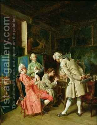 The Art Critics 2 by Dajou - Reproduction Oil Painting