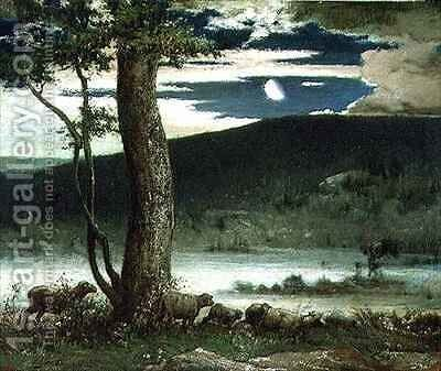 The Midnight Moon by Elliott Daingerfield - Reproduction Oil Painting