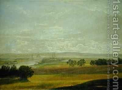 The Elbe Valley Near Dresden by Johan Christian Clausen Dahl - Reproduction Oil Painting