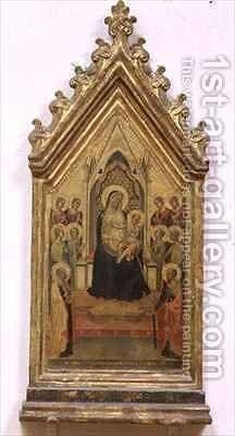 Madonna and Child Enthroned with SS Peter and Paul and Angels by Bernardo Daddi - Reproduction Oil Painting
