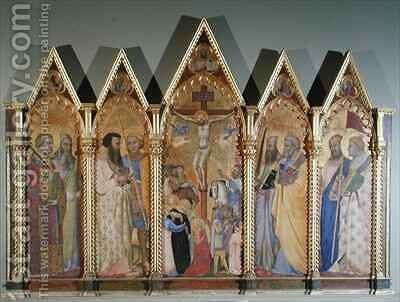 Polyptych with the Crucifixion by Bernardo Daddi - Reproduction Oil Painting