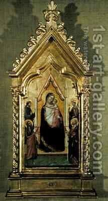 Madonna Enthroned by Bernardo Daddi - Reproduction Oil Painting