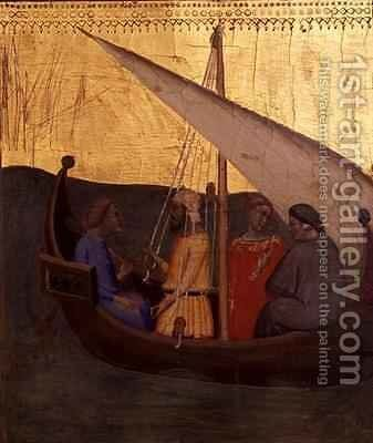 Predella panel depicting a scene from The Legend of the Sacred Girdle 2 by Bernardo Daddi - Reproduction Oil Painting