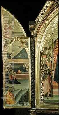 Triumph of Virgin and Child with Saints by Bernardo Daddi - Reproduction Oil Painting
