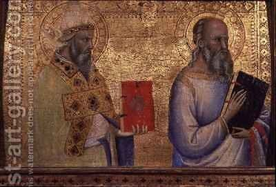 Saint Gregory the Great and unidentifiable saint by Bernardo Daddi - Reproduction Oil Painting