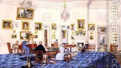 The Winter Room in the Artists House at Patna India by Charles D'Oyly - Reproduction Oil Painting