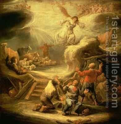 The Annunciation to the Shepherds by Benjamin Gerritsz. Cuyp - Reproduction Oil Painting