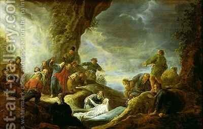 The Raising of Lazarus by Benjamin Gerritsz. Cuyp - Reproduction Oil Painting