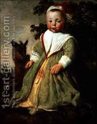 Portrait of a Child Aged Two by Aelbert Cuyp - Reproduction Oil Painting