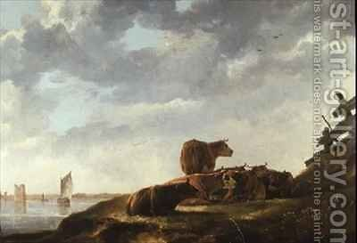 Seven Cows by Aelbert Cuyp - Reproduction Oil Painting