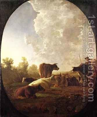 Sunset after Rain by Aelbert Cuyp - Reproduction Oil Painting