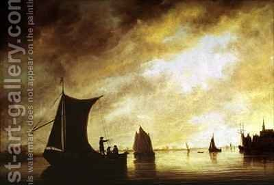 The Maas at Dordrecht by Aelbert Cuyp - Reproduction Oil Painting