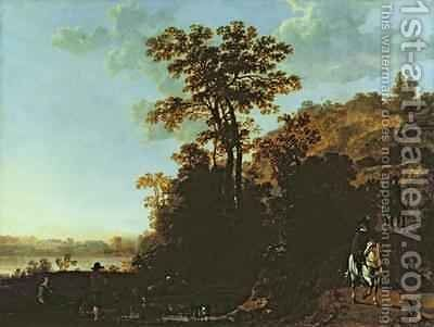 An Evening Ride near a River by Aelbert Cuyp - Reproduction Oil Painting