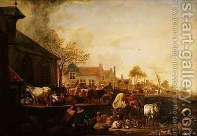 June in a Dutch Town by Aelbert Cuyp - Reproduction Oil Painting
