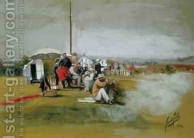 Firing Range Bisley Camp by Cecil Cutler - Reproduction Oil Painting