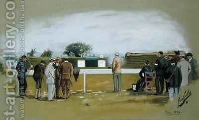 The Pistol Range Bisley Camp 2 by Cecil Cutler - Reproduction Oil Painting