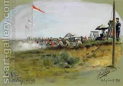 The Albert  First Stage 900 yards Bisley Camp by Cecil Cutler - Reproduction Oil Painting