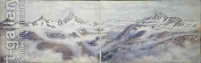 View from the Breithorn 2 by Arthur Cust - Reproduction Oil Painting