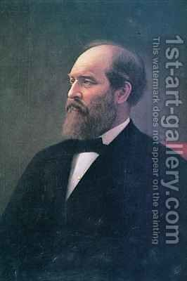 James A. Garfield 1831-81 by Calvin Curtis - Reproduction Oil Painting