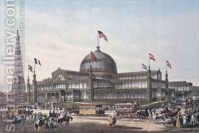 New York Crystal Palace built for World Fair in 1853 by Sydney Currie - Reproduction Oil Painting