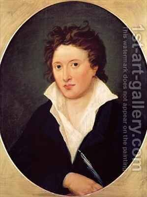 Portrait of Percy Bysshe Shelley by Amelia Curran - Reproduction Oil Painting