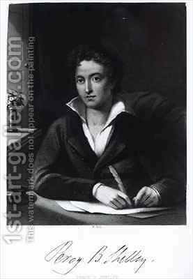Percy Bysshe Shelley by Amelia Curran - Reproduction Oil Painting