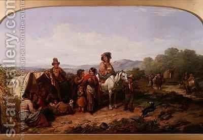 The Breaking Up of the Camp by James Curnock - Reproduction Oil Painting