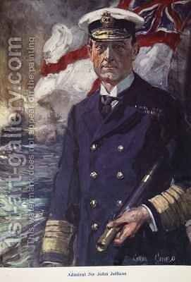 Admiral Sir John Jellicoe by Cyrus Cuneo - Reproduction Oil Painting