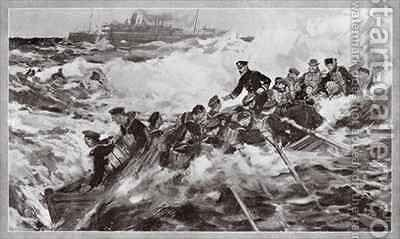 The rescue of the Princess Royal and her family by Cyrus Cuneo - Reproduction Oil Painting