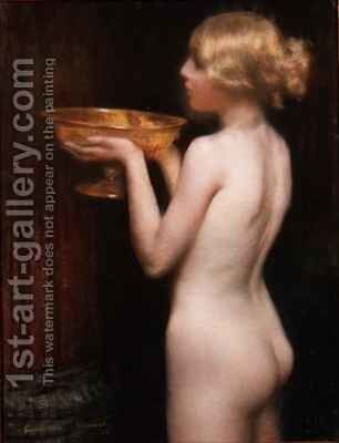 The Loving Cup by Janet Agnes Cumbrae-Stewart - Reproduction Oil Painting
