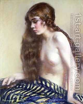 Portrait of a Young Girl by Janet Agnes Cumbrae-Stewart - Reproduction Oil Painting