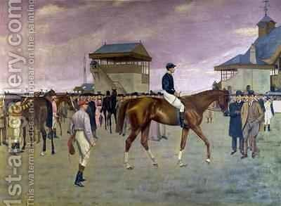 The Owners Enclosure Newmarket by Isaac Cullen - Reproduction Oil Painting