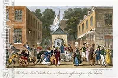 The Royal Wells Cheltenham or Spasmodic affections from Spa Waters by Isaac Robert Cruikshank - Reproduction Oil Painting