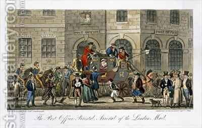 The Post Office Bristol Arrival of the London Mail by Isaac Robert Cruikshank - Reproduction Oil Painting