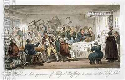 The Wake or last appearance of Teddy ORafferty a scene in the Holy Land by Isaac Robert Cruikshank - Reproduction Oil Painting